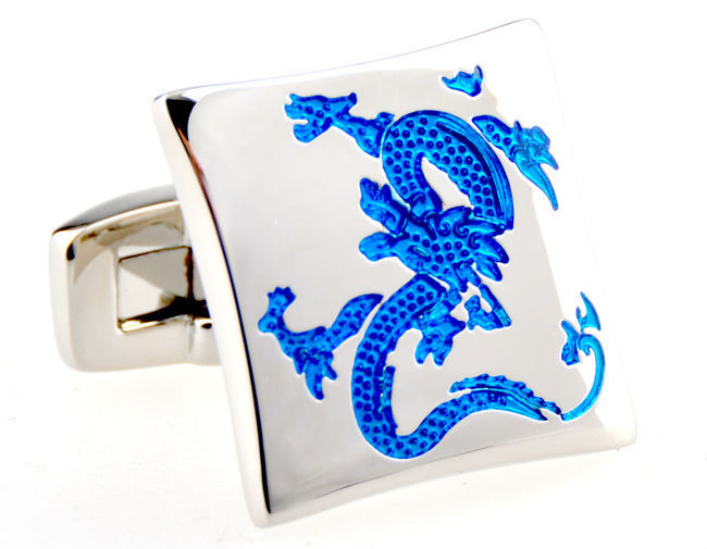 Hot sales Dragon Cufflinks for men s Lepton Brand Luxury Black Blue Color Chinese Style Groom