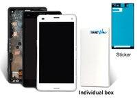 5ピース用ソニーxperia z3ミニlcdスクリーンディスプレイとタッチスクリーンデジタイザーアセンブリのために新しい卸売携帯電話部品