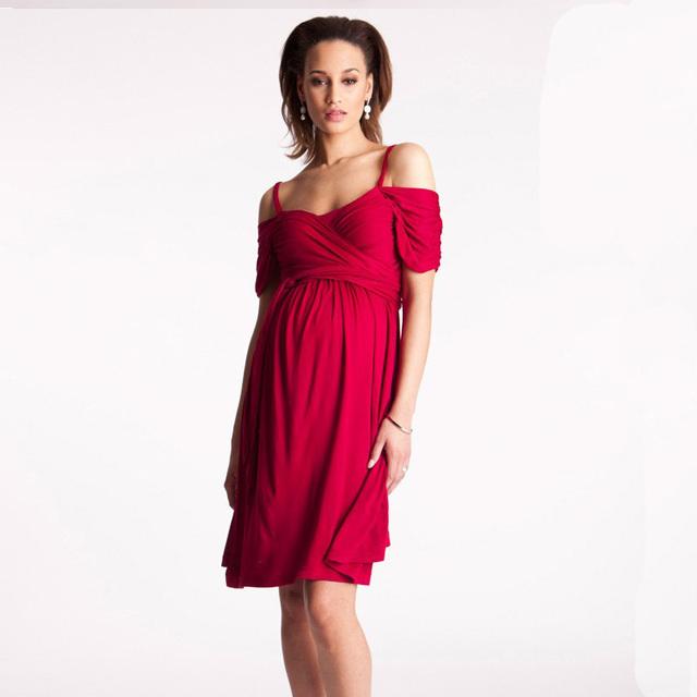 Novo Presente de Páscoa Traje Roupas para Mulheres Grávidas Plus Size Solto Vestidos De Maternidade Inverno wcloset Manga Curta Vestidos