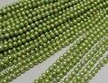 Comercio al por mayor Real Grano de La Perla 6-7mm 15 ''Luz verde manzana Natural Regalo Hecho A Mano de La Perla Del Grano Flojo