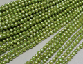 Wholesale Real Pearl Bead 6-7mm 15'' Light apple green Natural Freshwater Pearl Loose Bead Handmade Gift