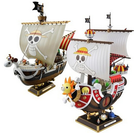NEW hot 28cm One piece Going Merry THOUSAND SUNNY action figure toys collection Christmas gift doll 12 style one piece diamond building blocks going merry thousand sunny nine snakes submarine model toys diy mini bricks gifts