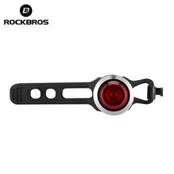 ROCKBROS IPX5 Su Geçirmez Akıllı bisiklet ışığı USB Şarj Edilebilir MTB Yol Bisiklet Arka Lambası LED Bisiklet Lambası Arka Işık bisiklet aksesuarı