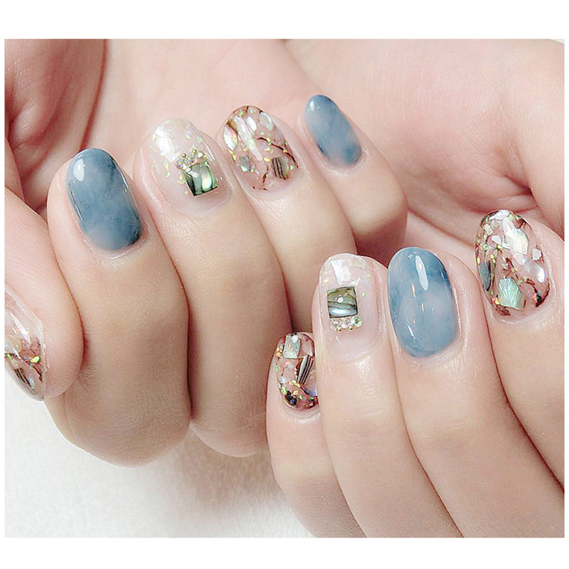 Natural Pearl Light Nail Seashell Slices Particle Crushed Shell Manicure Set Art Glitter Decoration Tools In Rhinestones Decorations From Beauty