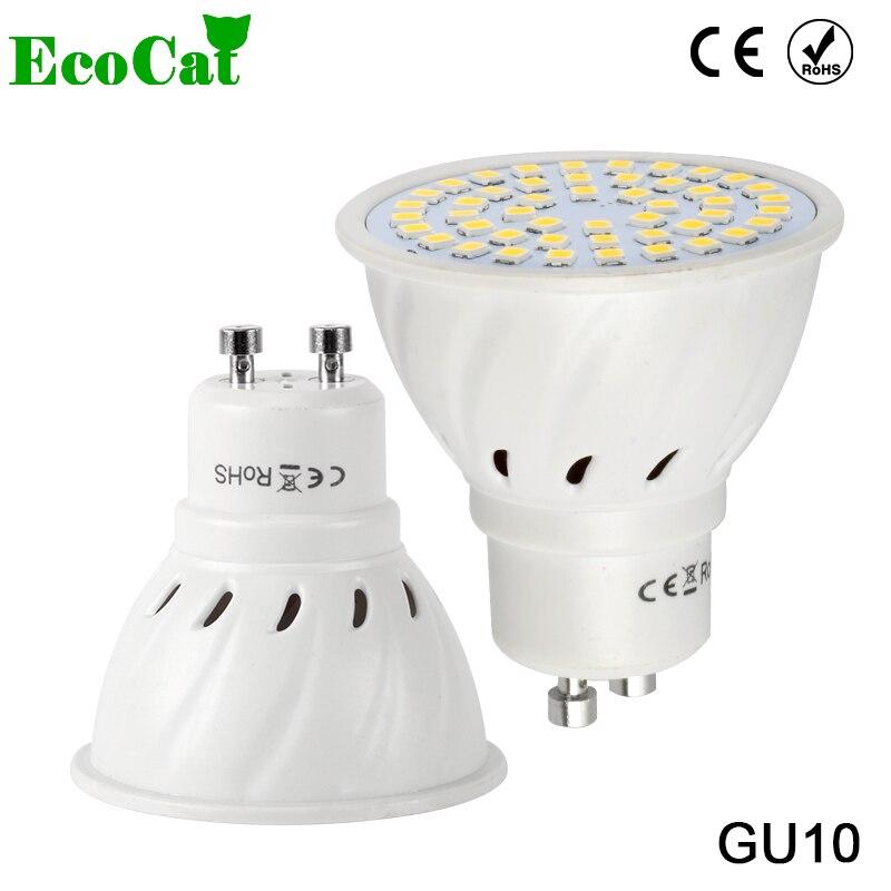 ECO CAT Lampada LED Lamp GU10  220V 3W 5W 7W 9W 5050 2835 SMD Ampoule LED Spotlight Bombillas LED Bulb Spot light Candle Luz цены онлайн
