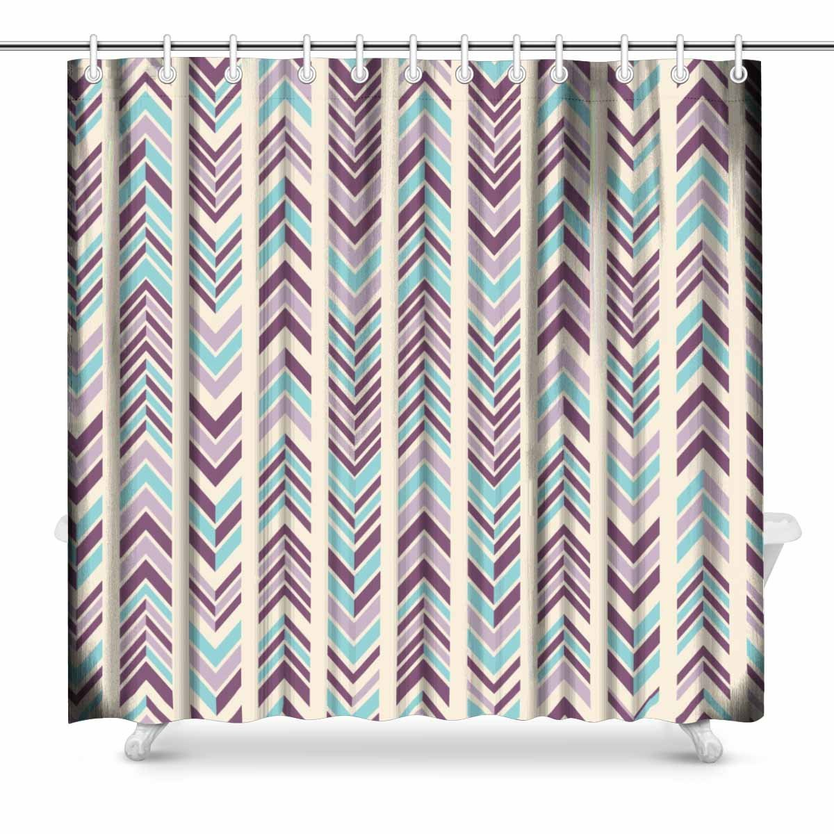 Aplysia Abstract Modern Chevron Pattern In Bright Colors Art Decor