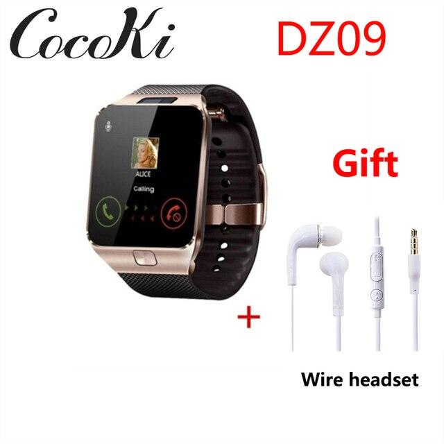 sitio de buena reputación 395f6 55af6 Reloj inteligente DZ09 reloj Digital para hombres Apple iPhone Samsung  Android Teléfono móvil Bluetooth SIM TF tarjeta PK GT08 a1