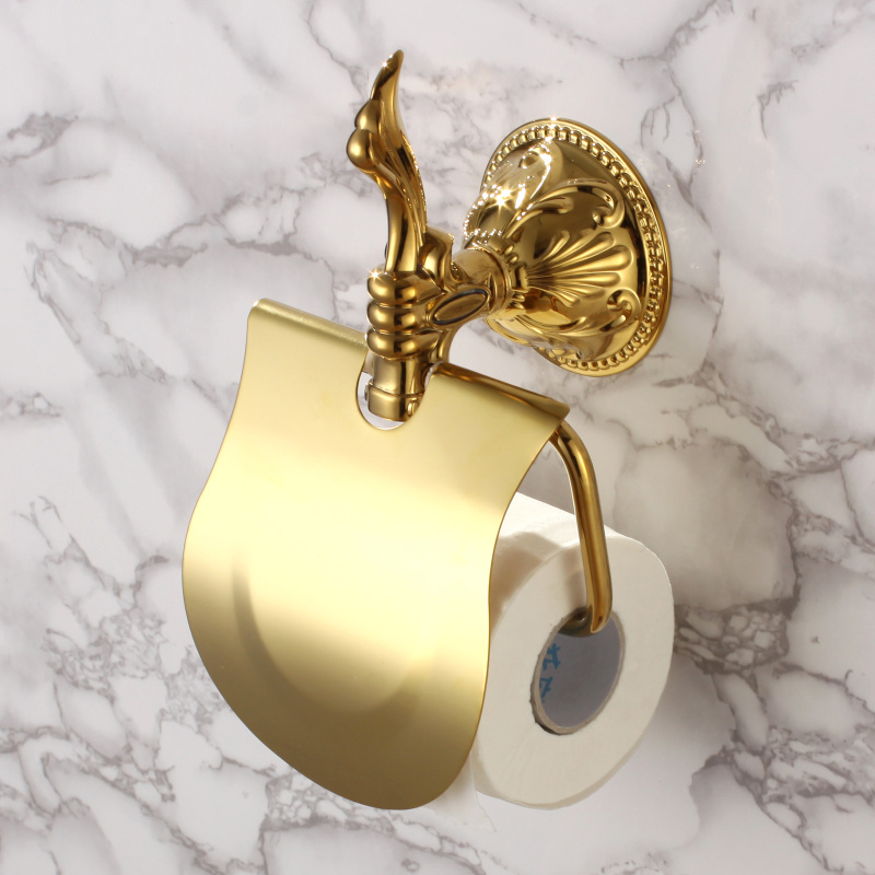 New Wall Mounted luxury Crystal Style Solid Brass gold Toilet Paper Holder  Golden Tissue Bar BathroomCompare Prices on Toilet Paper Crystal Holder  Online Shopping Buy  . 24k Gold Toilet Paper. Home Design Ideas
