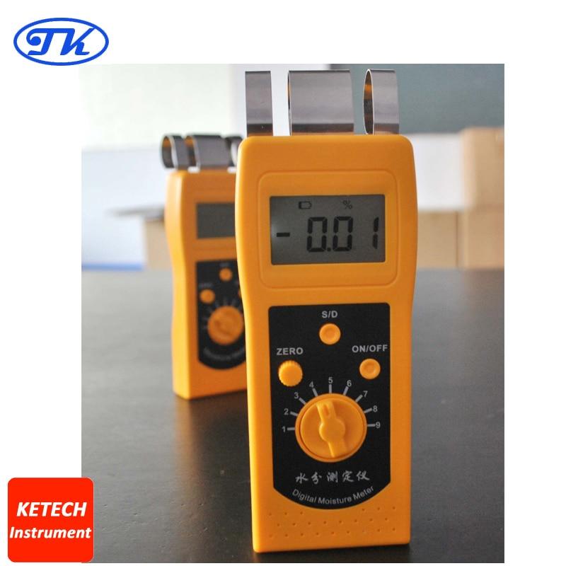 NEW DM200T High Performance Portable Digital Textile Moisture Meter Tester mc 7806 digital moisture analyzer price with pin type cotton paper building tobacco moisture meter