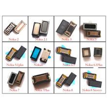 2x 携帯電話イヤーピース耳スピーカーノキアのための 2 2.1 3 3.1 5 5.1 6 6.1 7 7.1 8 プラスシロッコ