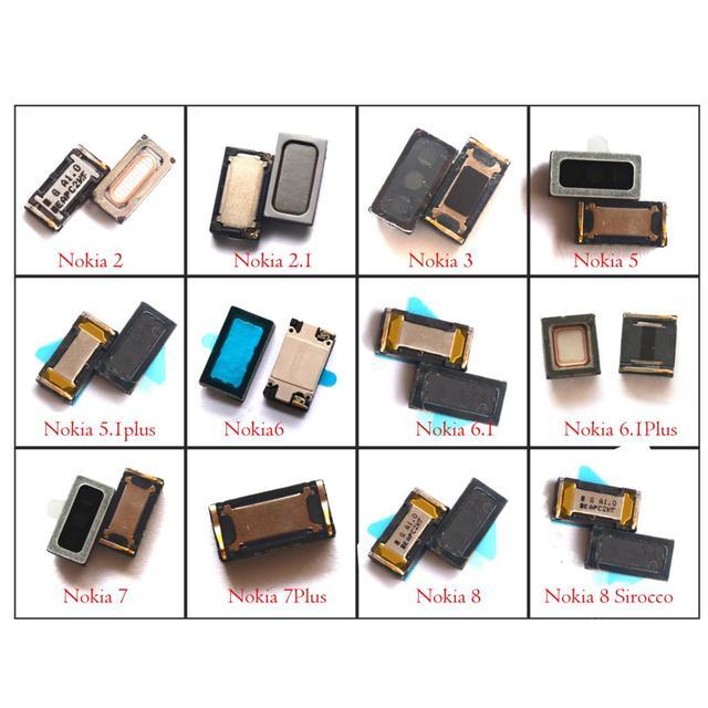 2x nowy oryginalny telefon komórkowy słuchawka głośnik odbiornik dla Nokia 2 2.1 3 3.1 5 5.1 6 6.1 7 7.1 8 plus Sirocco
