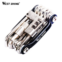 الغربية ركوب الدراجات البسيطة إصلاح أداة 11 في 1 دراجة متين الطريق دراجة أداة الدراجات متعددة مجموعة أدوات إصلاح وجع الدراجة إصلاح أدوات