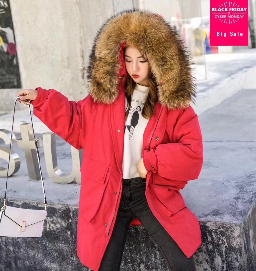 2019 Winter loose style good quality real duck   down     coat   female bat sleeved big natutal fur hooded thicker warm   down     coats   wq470