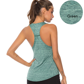 VEQKING Sleeveless Racerback Yoga Vest,Women Sport Singlet,Athletic Fitness Sport Tank Tops,Gym Running Training Yoga Shirts 9