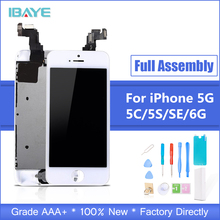 Full assembly LCD screen for iPhone 5/5C/5S/SE LCD Display LCD Touch Screen Digitizer full Replacement pantalla+Button+Camera 20pcs none spot lcd pantalla for iphone 6s 4 7 lcd display touch screen replacement digitizer full assembly free dhl shipping
