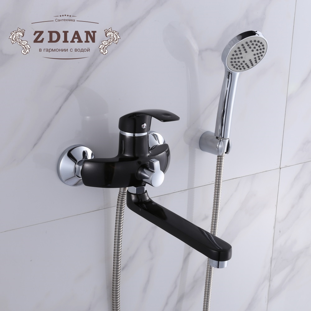 Bathtub Faucets Chrome Single Handle Hot and cold water tap Bath shower faucet shower head bathroom tap
