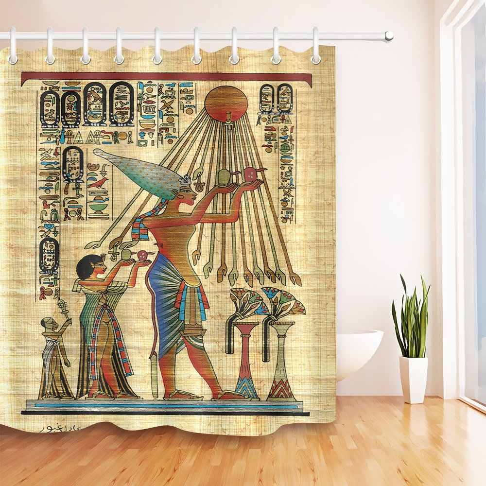 lb ancient egyptian drawing papyrus stall shower curtain egyptian god goddess symbols alphabets shower curtain waterproof