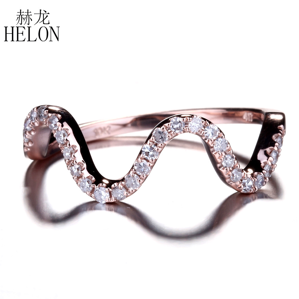 HELON Beauty Natural Diamonds Engagement Wedding Ring Solid 10K Rose Gold Pave Diamonds Anniversary Ring Women Fine Jewelry RingHELON Beauty Natural Diamonds Engagement Wedding Ring Solid 10K Rose Gold Pave Diamonds Anniversary Ring Women Fine Jewelry Ring
