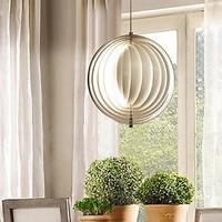 60W Modern Artistic Pendant Light with Layers Circle Halo Desig