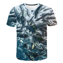 2019 Fashion 3D Printed T-shirts Cool Male Fish Love Carp Oversized Hip Hop Couple Casual Tops