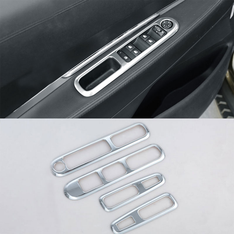 Jameo Auto Car Styling Accessories for Peugeot 3008 2009 - 2015 Car Door Window Lifter Protection Chrome Trim Strip Stickers(China)