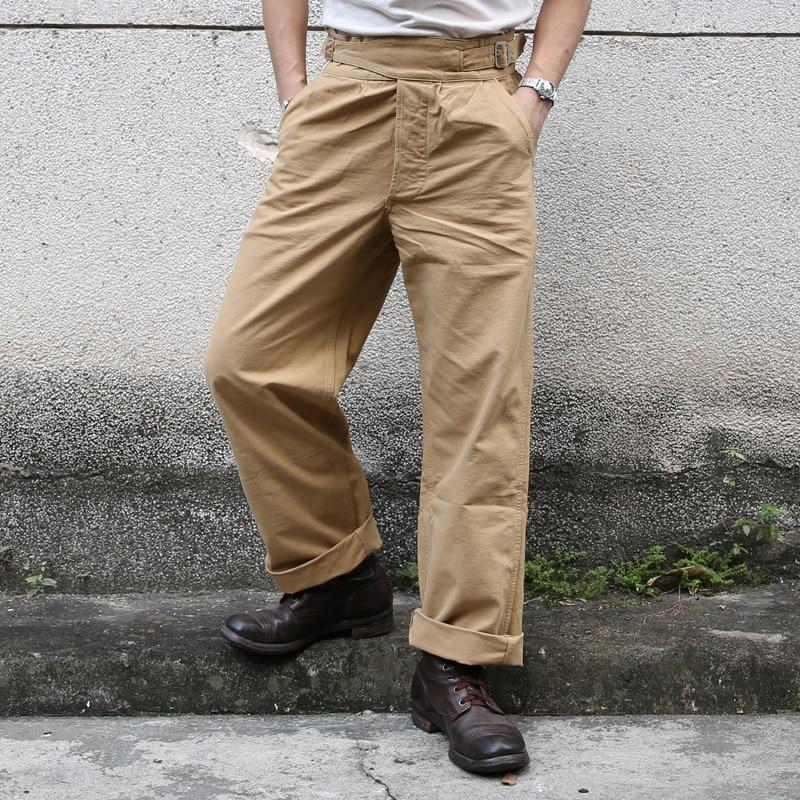 2019 Non Stock Gurkha Pants Vintage UK Army Military Trouser For Men Khaki Olive
