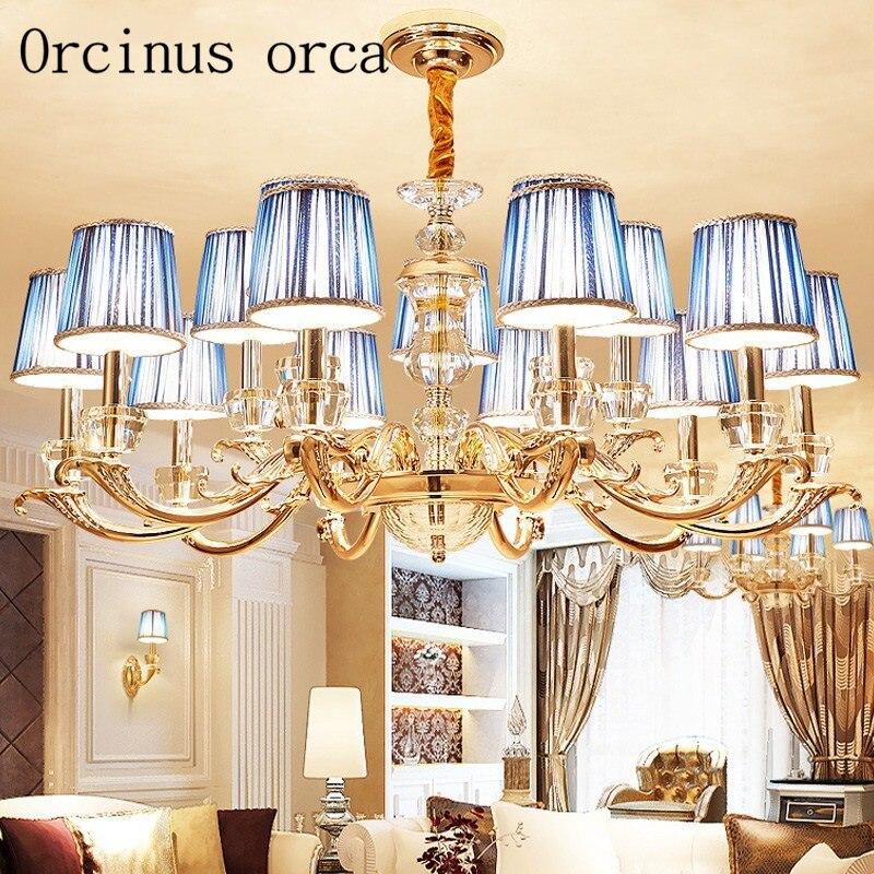 european luxury crystal chandelier duplex villa living