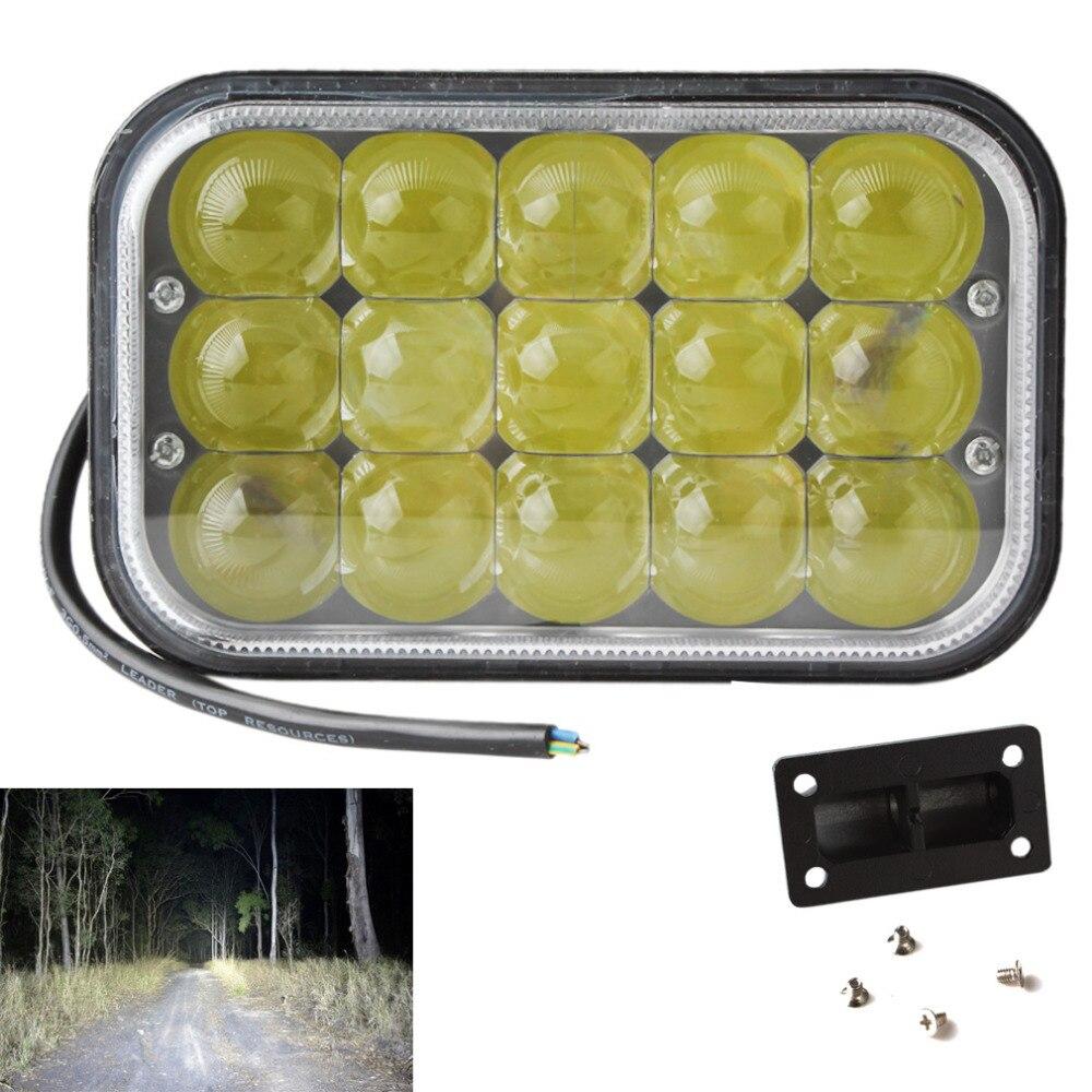 45W 6.7 Inch High Intensity 4500LM Auto Off-road ATV LED Work Lamp 9V-30V Car Boat Light 4WD