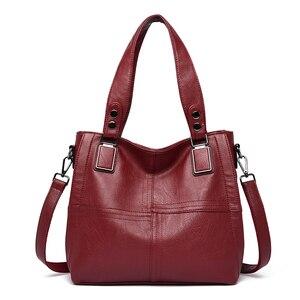 Image 5 - NEW Fashion Leather Women Bags Handbags Women Famous Brands Luxury Designer Plaid Sholder Bag Ladies Big Casual Tote Sac A Main