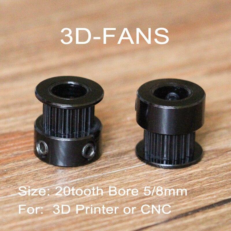 3D parti della stampante GT2 di Alluminio Puleggia 20 denti Bore 5mm 8mm denti di Timing Gear Per 2GT Larghezza della cinghia 6mm Nero3D parti della stampante GT2 di Alluminio Puleggia 20 denti Bore 5mm 8mm denti di Timing Gear Per 2GT Larghezza della cinghia 6mm Nero