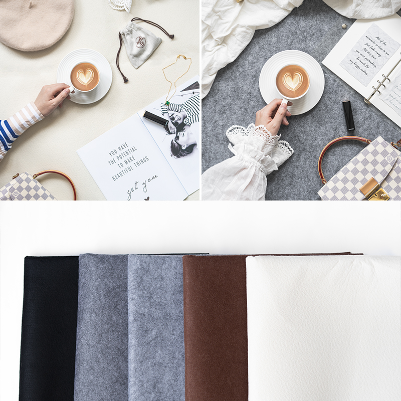 Photograph Background Cloth Non-reflective Light Absorption Decoration Work Indoor Tile Decoration Shooting Photography Props