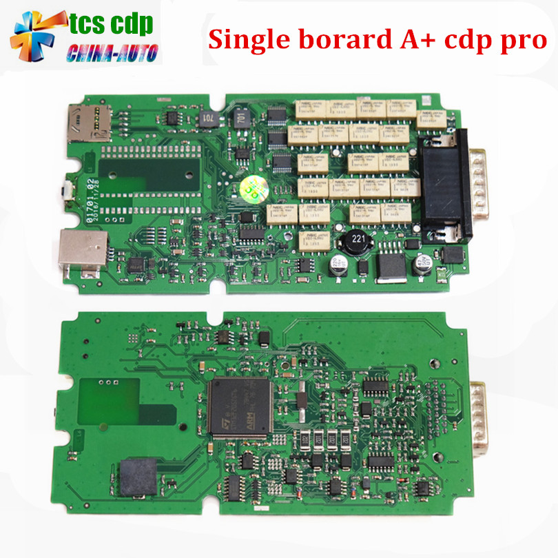 Best Quality Single Green PCB board TCS CDP+ Pro NO Bluetooth cars & Trucks Diagnostic tool 2014.2/2015.3 Optional new arrival new vci cdp with best chip pcb board 3 0 version vd tcs cdp pro plus bluetooth for obd2 obdii cars and trucks