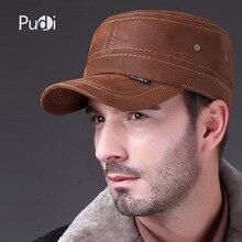 HL019 Genuine Leather baseball cap Fashion Box Hat/CAP  2017 new men brand army Nubuck leather hat