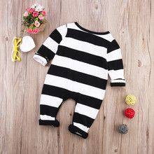 Kids Baby Boys Girls Infant  Cotton Bodysuits Newborn Clothes Outfits , Black and white