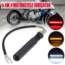 2PCS Motorcycle Turn Signals LED Flowing Water Flashing Lights Stop Tail Flasher/Running Blinker DRL