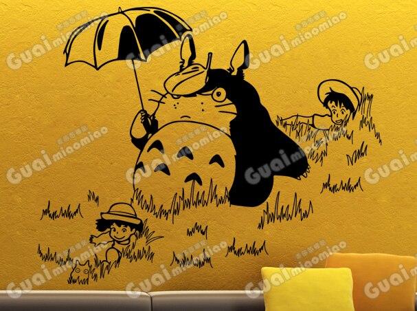 Japanese Cartoon Totoro Chinchilla font b Wall b font font b Decal b font Totoro Kids