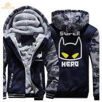 Hot Superman Batman Fashion Zipper Hoodies Men 2019 Winter Jackets Mens Fleece Slim Fit Men's Sweatshirt Thick Coat Tracksuit
