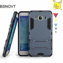 For Samsung Galaxy J5 2016 Case Silicone + Plastic Kickstand Anti-knock Cover J510
