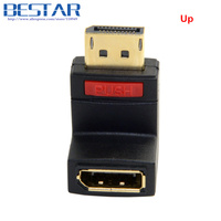 Left Angled 90 Degree Display Port DP DisplayPort Male To Dp Female Extension Adapter Connector For