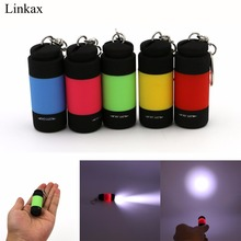 Handy Flashlight Ultra Bright Mini USB Rechargeable Led Light Lighting Lamp Flashlight Torch Keychain LED Light 5 Color