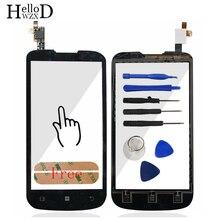 4.5 pulgadas highscreen pantalla táctil touch panel frontal de cristal del digitizador para lenovo a800 a 800 capacitiva sensor lente adhesiva libre