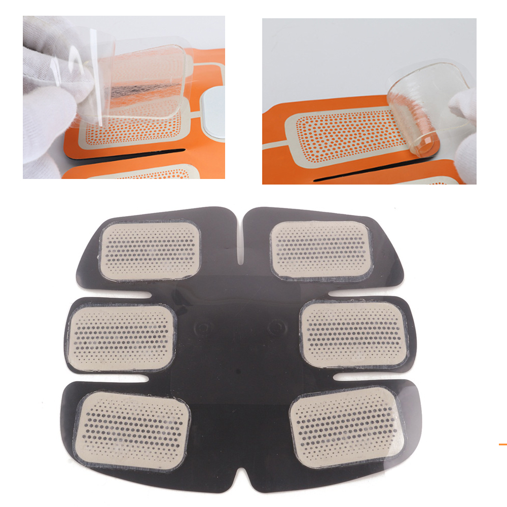 Gel Pads For EMS Trainer Abdominal Gel Stickers Fitness Hydrogel For Abdomen Muscle Stimulator Slimming Massage