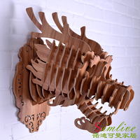 Деревянная голова дракона NODIC для украшения тотема, домашнего декора, восточных украшений, деревянного украшения китайского стиля, резьбы п