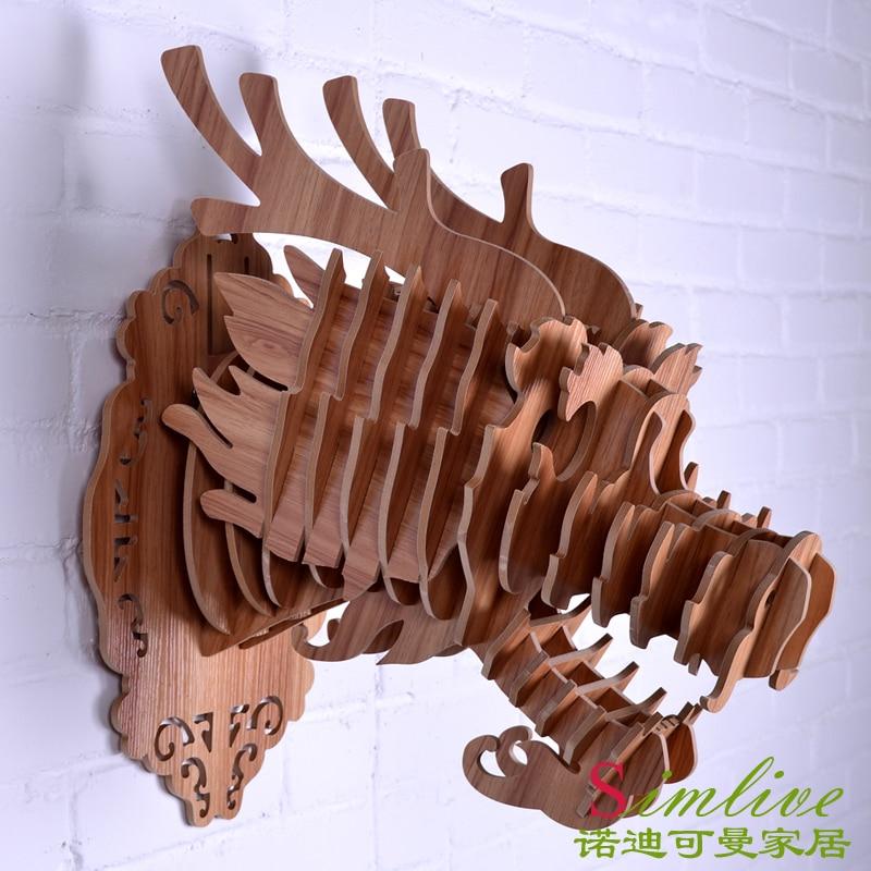 NODIC en bois Dragon tête pour Totem décoration, décor à la maison, décorations orientales, chinois style bois décoration, dragon sculptures sur bois