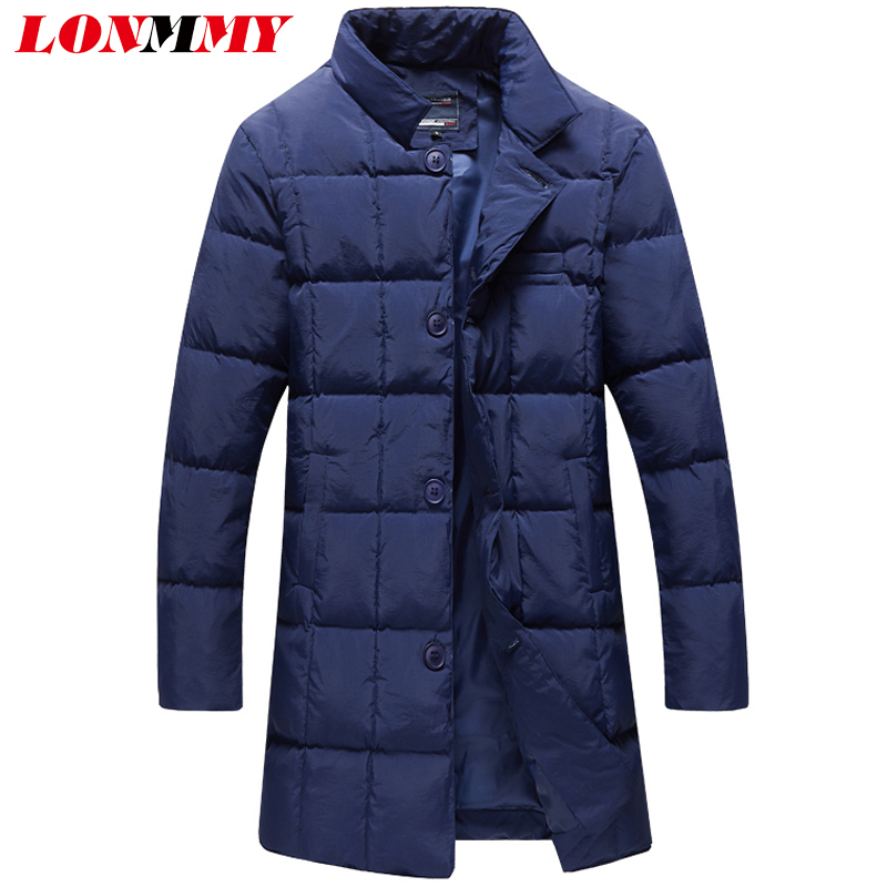 LONMMY 5XL Winter jackets mens parka men thicken Casual windbreaker Long style Outerwear Streetwear Fashion Black Blue 2017 new men s military style casual fashion canvas outdoor camping travel hooded trench coat outerwear mens army parka long jackets