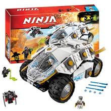 Bela 10523 TITANIUM NINJA TUMBLER Ninjagoed Zane Minifigure Nindroid Building font b Block b font Kit