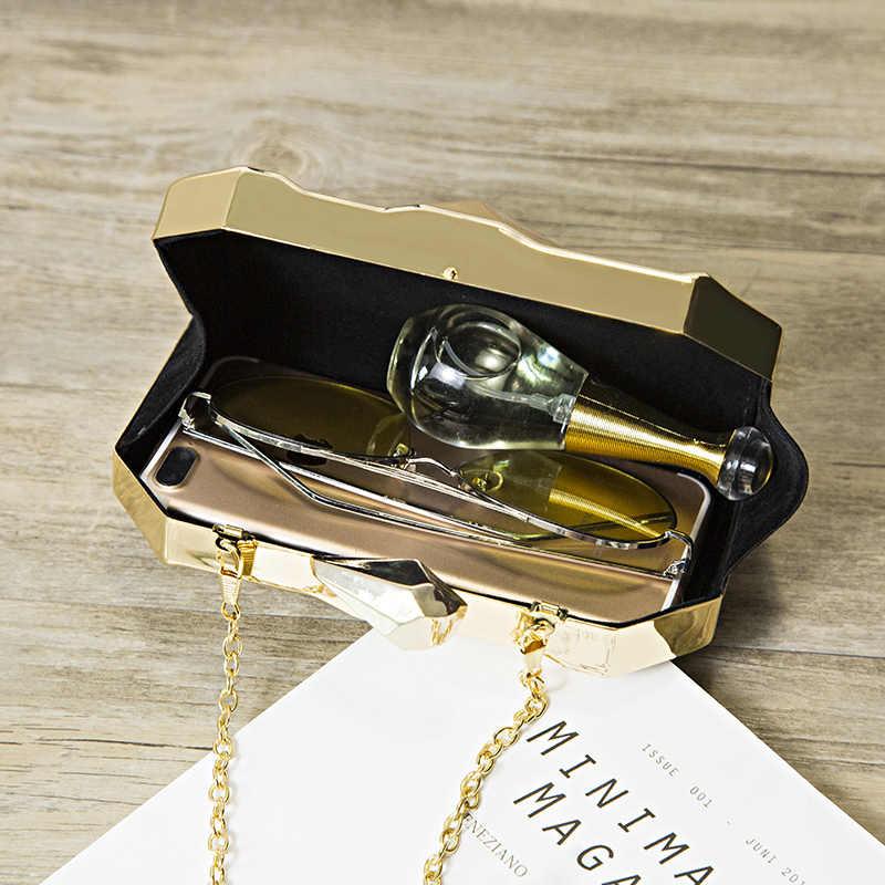 MAGICYZ золотистый акриловый клатч с геометрическим узором, вечерняя сумочка, элегантная женская сумочка на цепочке, вечерние сумки на плечо для свадьбы/свиданий/вечерние