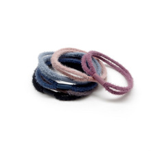 New Woollen Hair Rope Solid Color Cute Simple Style High Elastic Rubber Hair Bands Headband For Children Girls Hair Accessories