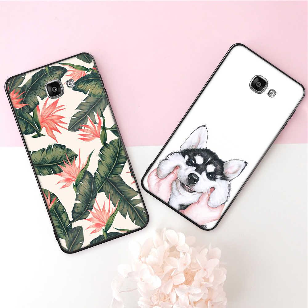 Yumuşak TPU Telefon Samsung kılıfı Galaxy S8 S9 Artı Çiçek Desen Kapak Samsung A6 A8 Artı 2018 J7 A7 A5 2017 J5 2016 Coque