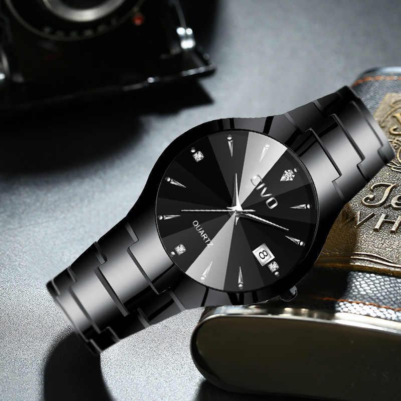CIVO Degli Uomini di Modo Orologi Top Brand di Lusso Coppia orologio Impermeabile Del Nastro In Acciaio Cinturino In Acciaio Orologio Da Polso Per Uomo Donna Orologio